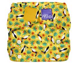Látková plenka integrovaná v nohavičkách Bambino Mio MioSolo Tropical Toucan