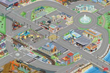 Hrací koberec 80x120cm Le Toy Van PLAYMAT Mesto