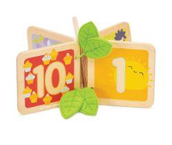 Drevená knižka počítanie Le Toy Van Petilou