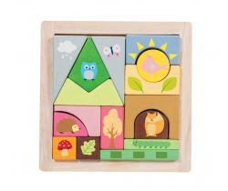 Skladacie kocky Le Toy Van päťročné Les