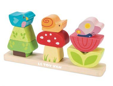 Skladacie kocky Le Toy Van Petilou Veselá záhradka