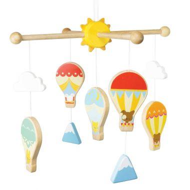 Závesný kolotoč Le Toy Van Petilou Teplovzdušné balóny