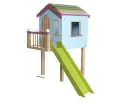 Drevený záhradný domček pre bábiky Lottie