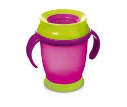 Lovi hrnček 360 MINI 210ml s úchytmi bez BPA ružový