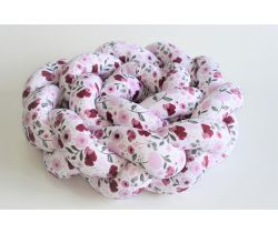Mantinel do postieľky 210x16 cm DuetBaby  Cop Pink Flowers