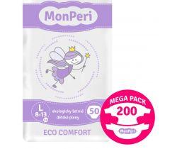 Mega Pack detské plienky 200 ks 8-13 kg Monperi Eco Comfort L