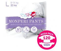 Mega Pack plienkové nohavičky Monperi Pants L (8-13 kg) 120 ks