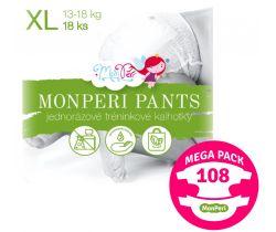 Mega Pack plienkové nohavičky Monperi Pants XL (13-18 kg) 108 ks