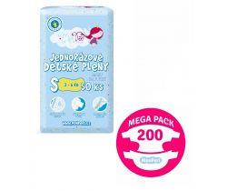 Mega Pack Plienky 200 ks 3-6 kg MonPeri S