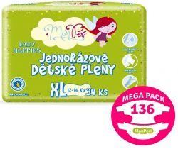 Mega Pack Plienky 136 ks 12-16 kg MonPeri XL