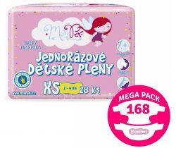 Mega pack Plienky 168 ks 2-4 kg MonPeri XS