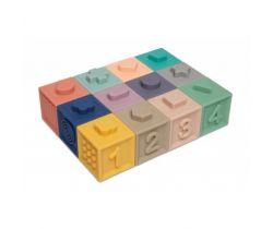Mäkké senzorické hracie kocky 12 ks Canpol