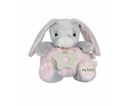 Mäkký guľatý zajačik s hryzátkom My Teddy Newborn Star