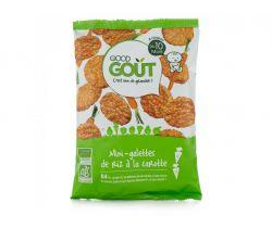 Mini ryžové koláčiky s mrkvou 40 g Good Gout Bio