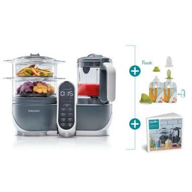 Multifunkčný prístroj Babymoov Nutribaby + Industrial Grey + Foodi