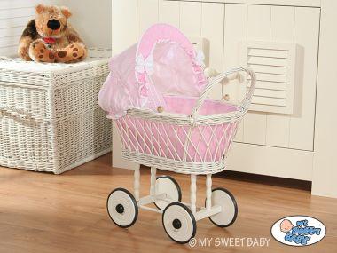 My Sweet Baby prútený kočík pre bábiku  1