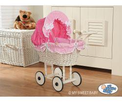 My Sweet Baby prútený kočík pre bábiku 2