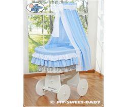 My Sweet Baby prútený kôš biely-domácí luxusný kočík