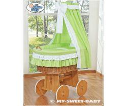 My Sweet Baby prútený kôš prírodný-domácí luxusný kočík