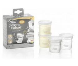 Nádobky na skladovanie materského mlieka Tomme Tippee C2N, 4ks, 0+m
