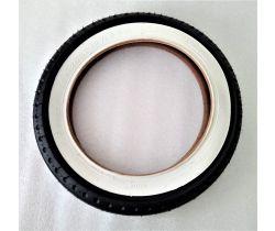 Náhradný plášť na nafukovacie koleso Emmaljunga 12 1/2 x 2 1/4 White/Black