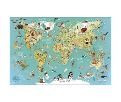 Nástenná magnetická mapa sveta Vilac