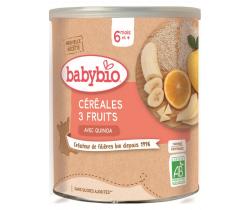 Nemliečna ovocná kaša (3 druhy ovocia) 220 g Babybio