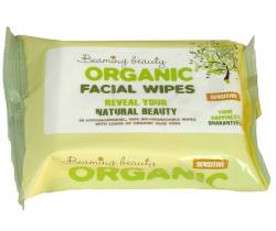 Organické vlhčené obrúsky na tvár 25 ks Beaming Baby