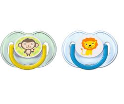 Ortodontický cumlík 2 ks Avent Lion/Monkey