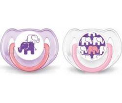 Ortodontický cumlík 2 ks Avent Sloníci fialová