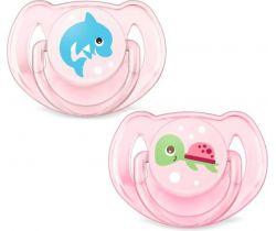 Ortodontický cumlík 2 ks Avent Turtle/Dolphin