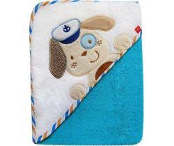 Osuška Bobas Eco Psíček Námorník modrý