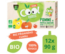 Ovocné BIO kapsičky 12x90g Vitabio Cool Fruits jablko a acerola