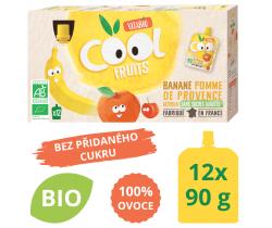 Ovocné BIO kapsičky 12x90g Vitabio Cool Fruits jablko, banán a acerola