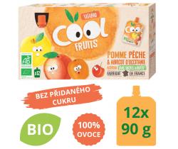 Ovocné BIO kapsičky 12x90g Vitabio Cool Fruits jablko, broskyňa, marhuľa a acerola