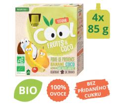 Ovocné BIO kapsičky 4x85g Vitabio Cool Fruits kokos, hruška, banán a acerola