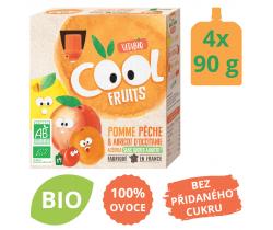 Ovocné BIO kapsičky 4x90g Vitabio Cool Fruits jablko, broskyňa, marhuľa a acerola
