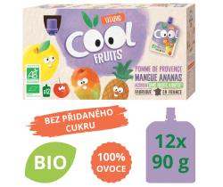 Ovocné BIO kapsičky Vitabio 12x90g Cool Fruits jablko, mango, ananás a acerola