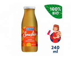 Ovocné smoothie s mangom, ananásom a pomarančovou dužinou (240 ml) Salvest Smushie BIO