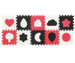 Penové puzzle 10 ks BabyOno Shapes