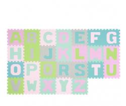 Penové puzzle 26 ks BabyOno Pastelové Písmena
