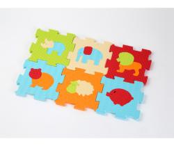 Penové puzzle 46,5x31,5 cm Ludi Zvieratká