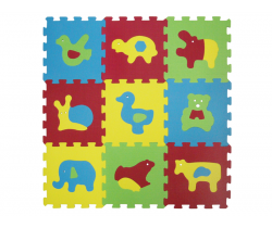Penové puzzle 84x84 cm Ludi Zvieratká Basic