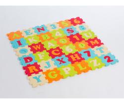 Penové puzzle 90x90 cm Ludi Písmenka a Čísla