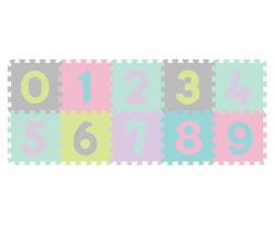 Penové puzzle BabyOno Pastelové Čísla