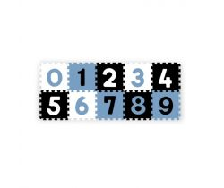 Penové puzzle BabyOno Pastelové Čísla 10 ks Blue/Black/White