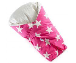 Páperová zavinovačka Dráčik ružová veľké biele hviezdy