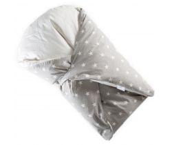 Páperová zavinovačka Klasik šedá ostré biele hviezdy