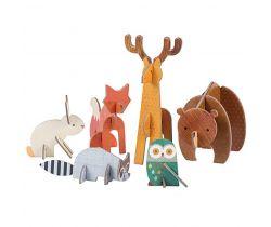 3D puzzle Petitcollage Lesné zvieratká