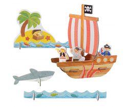 3D puzzle Petitcollage Piráti s farbami
